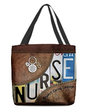 Nurse respect caring courage All-over Tote front