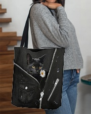 Black Cat Black Leather All-over Tote aos-all-over-tote-lifestyle-front-09