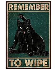 Black Cat Remember To Wipe 11x17 Poster front