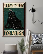 Black Cat Remember To Wipe 11x17 Poster lifestyle-poster-1