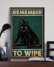 Black Cat Remember To Wipe 11x17 Poster lifestyle-poster-2
