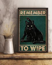 Black Cat Remember To Wipe 11x17 Poster lifestyle-poster-3