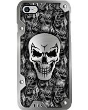 Smoky Skull Metal Pattern Print 2 Phone Case i-phone-8-case