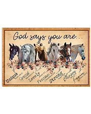 God Says You Are Beautiful Horse 17x11 Poster front