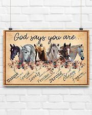 God Says You Are Beautiful Horse 17x11 Poster poster-landscape-17x11-lifestyle-17