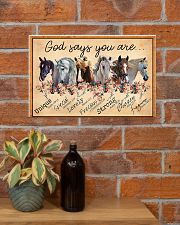 God Says You Are Beautiful Horse 17x11 Poster poster-landscape-17x11-lifestyle-23