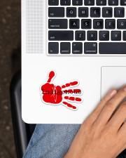 Indigenous-Red Hand Sticker Sticker - Single (Horizontal) aos-sticker-single-horizontal-lifestyle-front-11