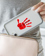 Indigenous-Red Hand Sticker Sticker - Single (Horizontal) aos-sticker-single-horizontal-lifestyle-front-23