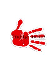 Indigenous-Red Hand Sticker Sticker - Single (Horizontal) front