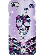 Purple Skull  Phone Case i-phone-8-case