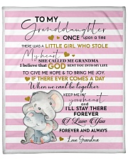 To My Granddaughter Once Upon A Time Fleece Blanket tile