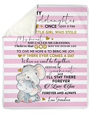 """To My Granddaughter Once Upon A Time Sherpa Fleece Blanket - 50"""" x 60"""" front"""