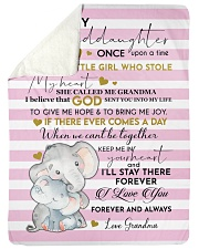 To My Granddaughter Once Upon A Time Sherpa Fleece Blanket tile