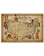 Map Of Indian Tribes 17x11 Poster front