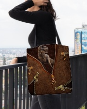 Dinosaur Leather All-over Tote aos-all-over-tote-lifestyle-front-05