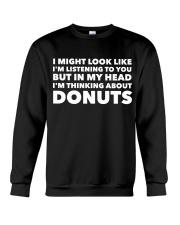 I'm thinking about donuts Crewneck Sweatshirt tile