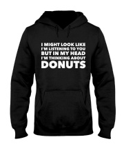 I'm thinking about donuts Hooded Sweatshirt tile