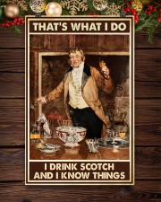 I drink scotch and I know things 11x17 Poster aos-poster-portrait-11x17-lifestyle-22