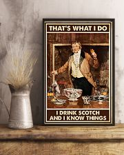 I drink scotch and I know things 11x17 Poster lifestyle-poster-3