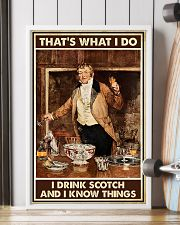 I drink scotch and I know things 11x17 Poster lifestyle-poster-4