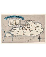 Kentucky Distilleries Map 17x11 Poster front