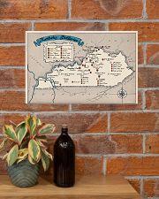 Kentucky Distilleries Map 17x11 Poster poster-landscape-17x11-lifestyle-23