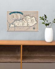 Kentucky Distilleries Map 17x11 Poster poster-landscape-17x11-lifestyle-24