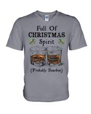 Full of Christmas spirit V-Neck T-Shirt tile