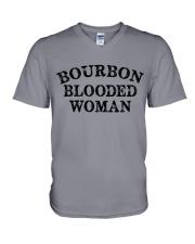 Bourbon blooded woman V-Neck T-Shirt tile