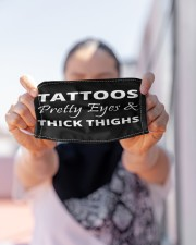 Tattoos Pretty Eyes Thick Thighs Cloth Face Mask - 3 Pack aos-face-mask-lifestyle-07