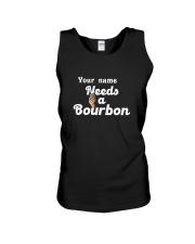 Personalized Needs a bourbon Unisex Tank tile