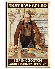 I drink scotch 11x17 Poster front