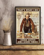 I drink scotch 11x17 Poster lifestyle-poster-3