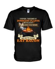 Eat Bacon V-Neck T-Shirt tile