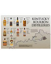 Kentucky bourbon distilleries 17x11 Poster front