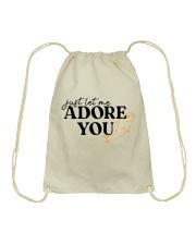 just let me Adore you Drawstring Bag tile