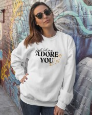 just let me Adore you Crewneck Sweatshirt lifestyle-unisex-sweatshirt-front-3