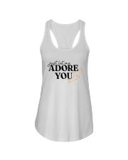 just let me Adore you Ladies Flowy Tank tile