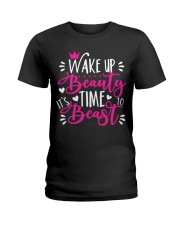 Wake Up Beauty It's Time To Beast Ladies T-Shirt tile