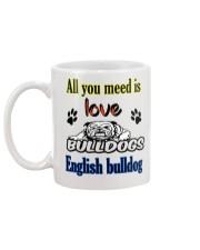 bulldog dogs  Mug back