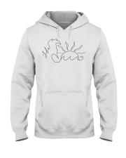 Beach Life Line art drawing Hooded Sweatshirt thumbnail