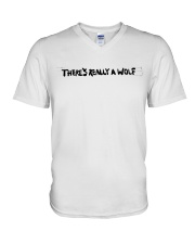 There's Really A Wolf - Russ T shirt V-Neck T-Shirt thumbnail