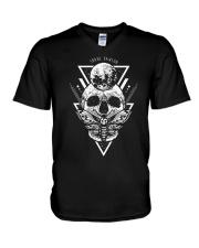 shane dawson skull t shirt V-Neck T-Shirt thumbnail