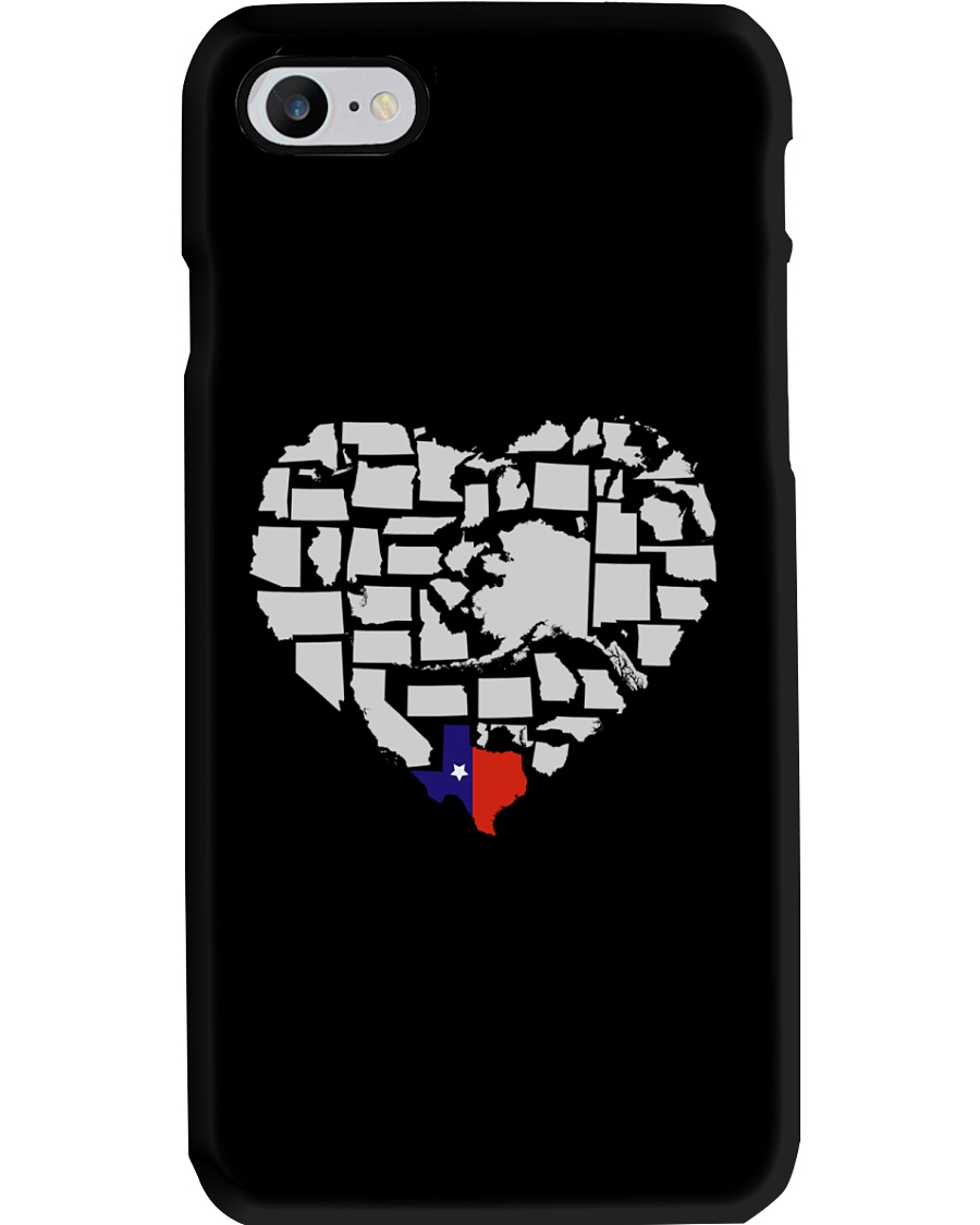 I LOVE TEXAS FROM BOTTOM OF MY HEART Phone Case