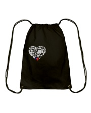 I LOVE TEXAS FROM BOTTOM OF MY HEART Drawstring Bag thumbnail