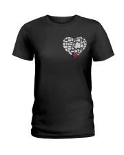 I LOVE TEXAS FROM BOTTOM OF MY HEART Ladies T-Shirt thumbnail
