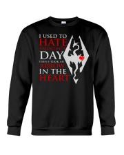 USED TO HATE VALENTINE DAY Crewneck Sweatshirt thumbnail