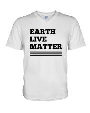 Earth lives matter 2 V-Neck T-Shirt thumbnail