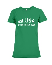 Born to be a geek Premium Fit Ladies Tee front
