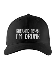 Breaking news I'm drunk cap Embroidered Hat front